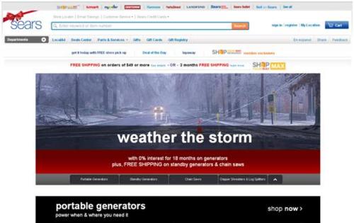 Sears storm